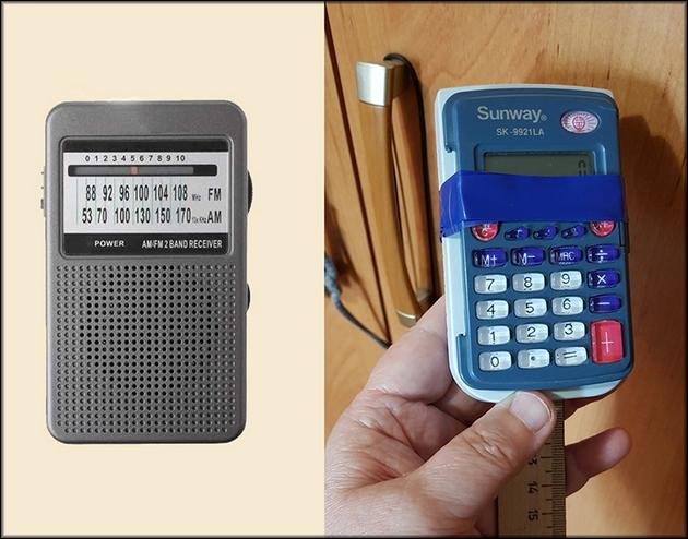 Приемник и калькулятор