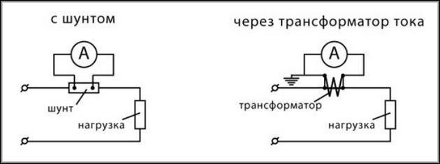 Схемы косвенного подключения