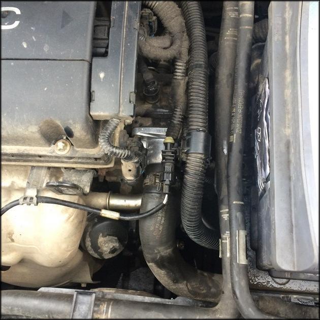 Новый термостат установлен на Opel Astra