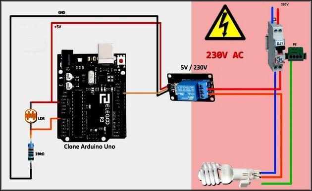 Фотореле с Arduino