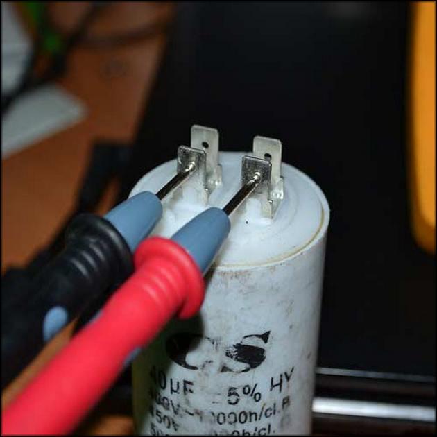Прозвонка пускового конденсатора