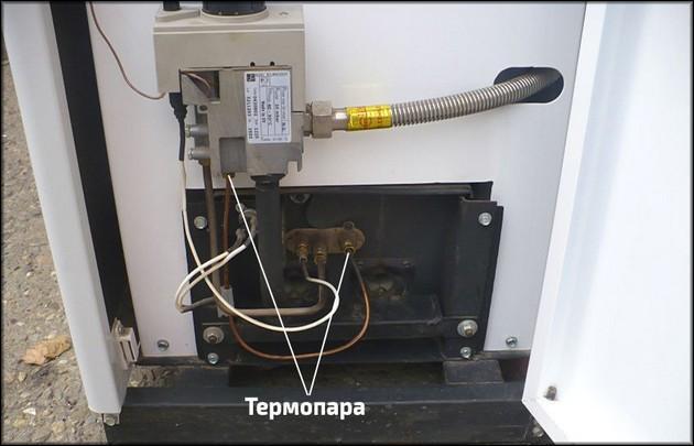 Термопара на котле