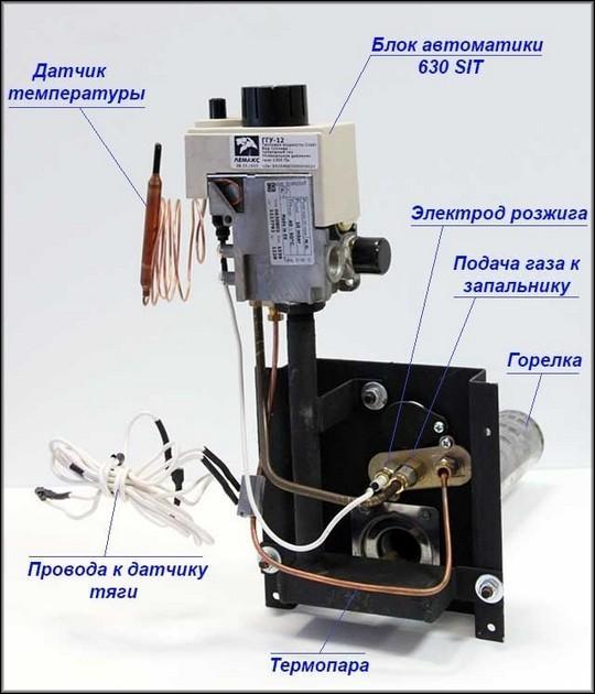 Схема подключения автоматики