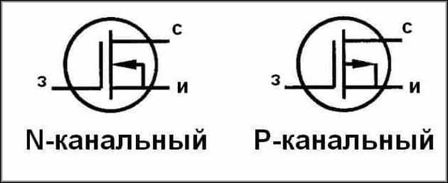 N и P канальные транзисторы