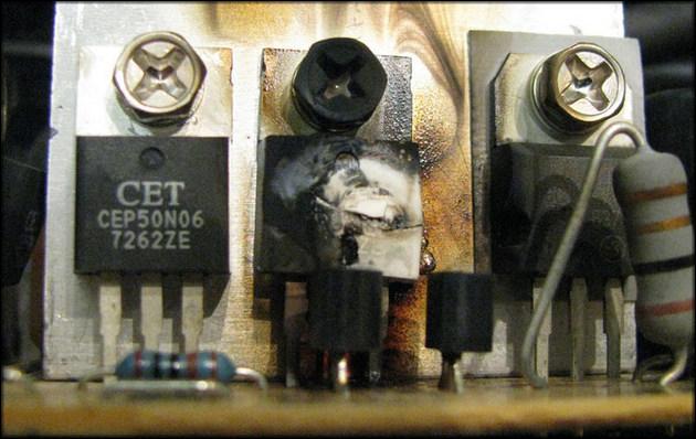 Выгоревшие транзисторы